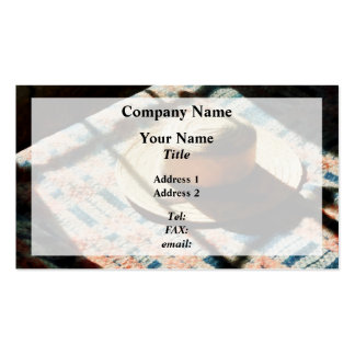 Hat on Bed Business Card Template