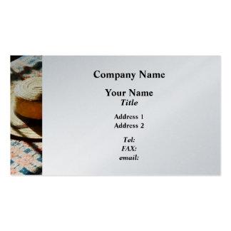 Hat on Bed - Platinum Business Cards