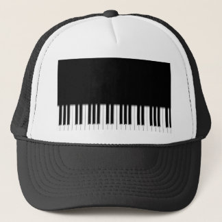 Hat - Piano Keyboard black and white