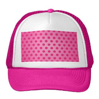 Hat Pink Polka Dot