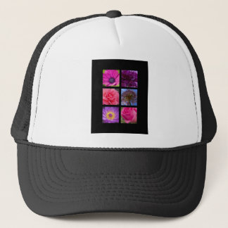 Hat - Pink Purple Flowers