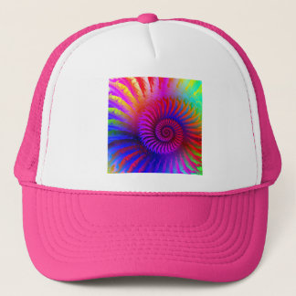 Hat - Psychedelic Fractal pink red purple blue