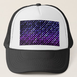 Hat Purple Crystal Bling Strass