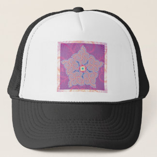 Hat - Purple Star Fractal Pattern
