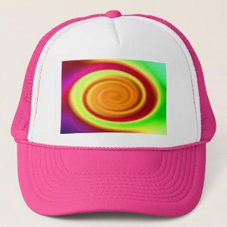 Hat - Rainbow Swirl Abstract Pattern