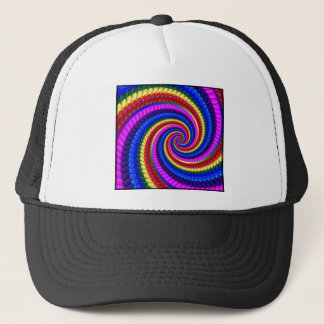 Hat - Rainbow Swirl Fractal Pattern
