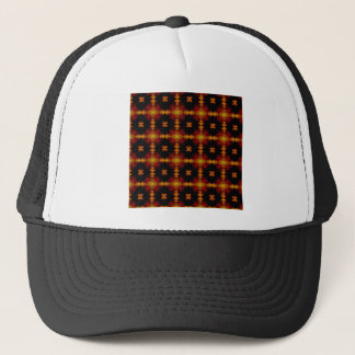 Hat - Retro Fractal Pattern red black yellow