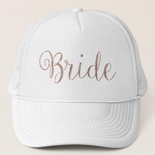 Hat - Rose Gold Glitter Bride
