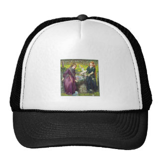 Hat: Rossetti - Dante's Vision of Rachel & Leah