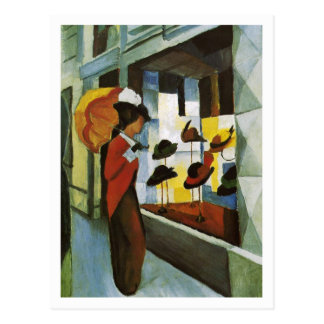Hat Shop by August Macke Postcard