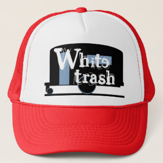 Hat Travel Trailer Drinking Cap White Trash