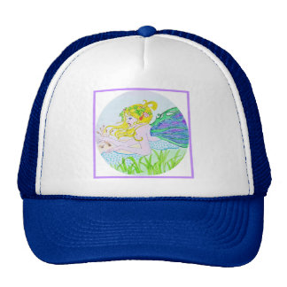 HAT TRUCKER STYLE FOR YOUNG GIRLS IN FAIRY DESIGN