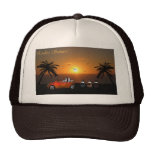 Hat with 3 Dutch Rabbits watching the sunset