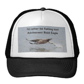 Hat with Bald Eagle fishing.
