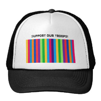 Hat with Colorful, Fun Stripes