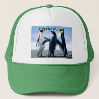 Hat with Fighting Penguin Image