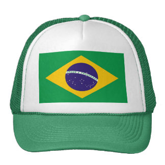 Hat with Flag of Brazil