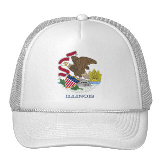 Hat with Flag of  Illinois State - USA