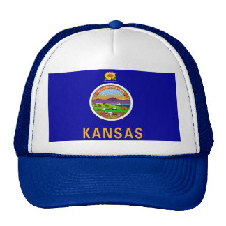 Hat with Flag of  Kansas State - USA