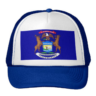 Hat with Flag of Michigan State - USA