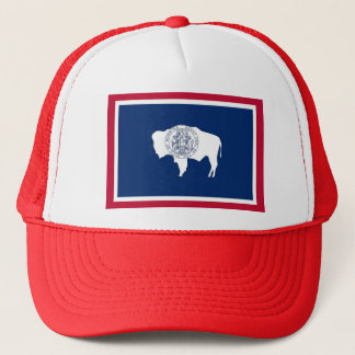 Hat with Flag of Wyoming State - USA