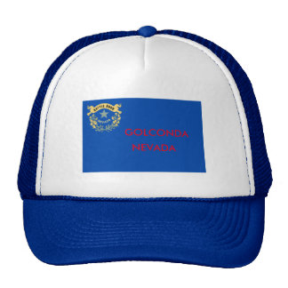 Hat with Nevada state flage Golconda Nevada