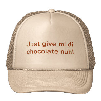Hat with Patwa for Chocolate Lovers