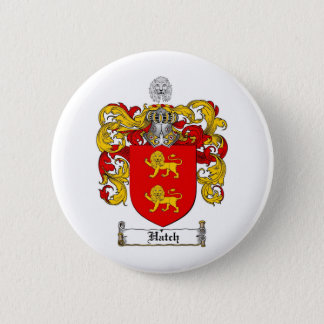 HATCH FAMILY CREST -  HATCH COAT OF ARMS 6 CM ROUND BADGE