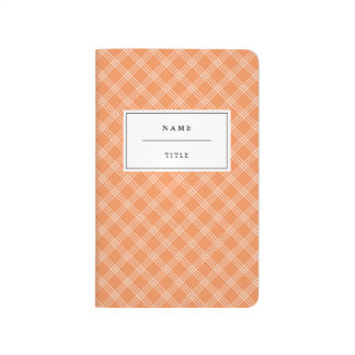 Hatch Pattern Kids Journal - Orange
