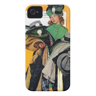 Hatcheck Girl iPhone 4 Cover