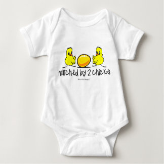 Hatched by Two Chicks Baby Bodysuit