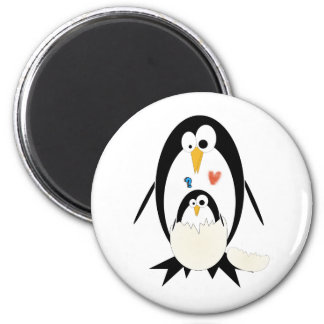 Hatching Penguin Round Magnet