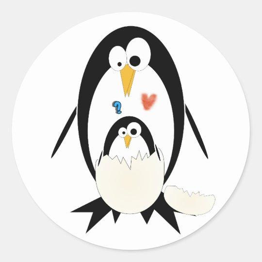 Hatching Penguin Stickers