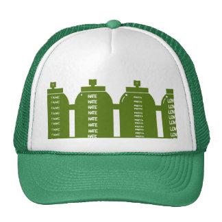 hate, fame, pretty, love trucker hat