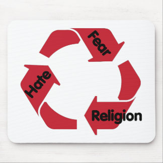 Hate Fear Religion Mouse Pad