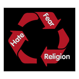 Hate Fear Religion Poster