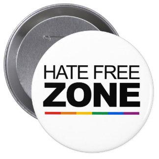 HATE FREE ZONE 10 CM ROUND BADGE