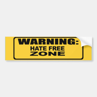 Hate Free Zone 2 Bumper Sticker