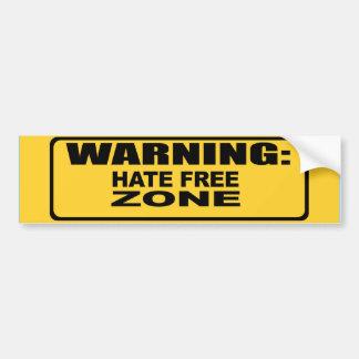 Hate Free Zone 2 Bumper Sticker