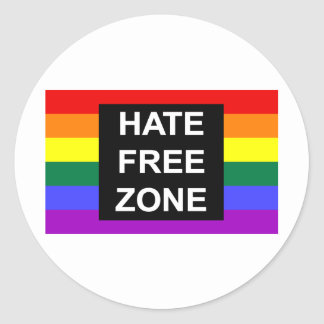 Hate Free Zone Stickers