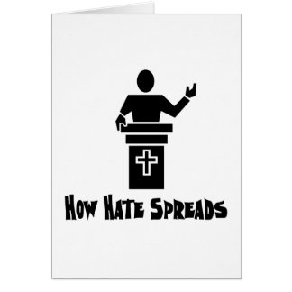 Hate From The Pulpit Cards