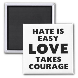 Hate is Easy Square Magnet
