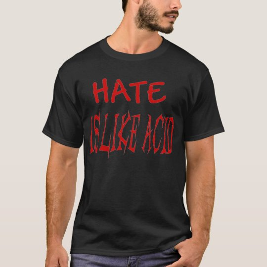 Hate Is Like Acid T-Shirt Promotional (back)