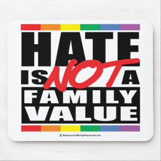 Hate Is NOT A Family Value Mouse Pad
