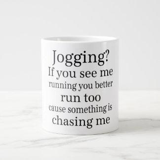 Hate Jogging Quote 20 Oz Large Ceramic Coffee Mug