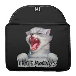 "HATE MONDAY CAT Rickshaw Macbook PRO Sleeve 13 """
