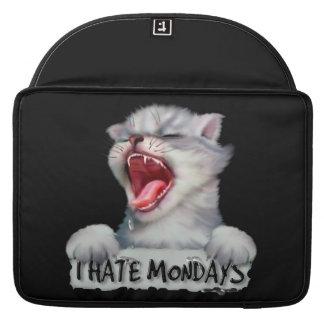 "HATE MONDAY CAT Rickshaw Macbook PRO Sleeve 15 """