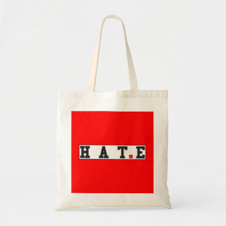 hate text message emotion feeling red dot square budget tote bag