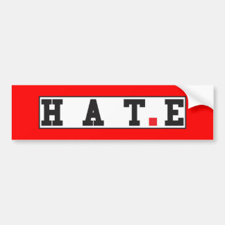 hate text message emotion feeling red dot square bumper sticker