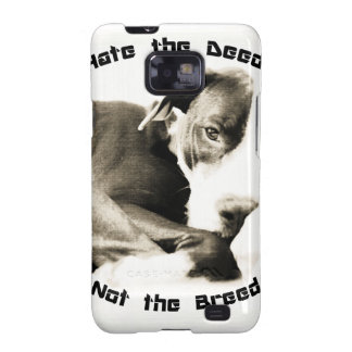 hate the deed not the breed pitbull samsung galaxy SII cover